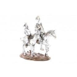 Figura Quijote y Sancho a Caballo