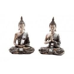 Buda Vestido Sentado Plateado