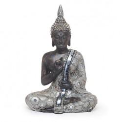 Figura Buda Sentado Plateado