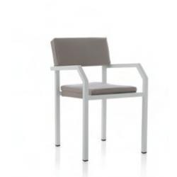 Mesa Centrp Aluminio Blanco C/Cristal Blanco