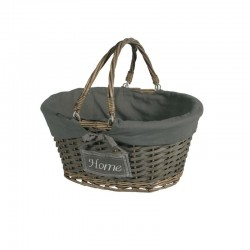 Cesta Oval Home Gris